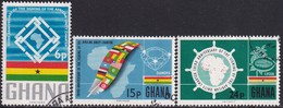 GHANA 1966 SG 426-28 Compl.set Used Third Anniv Of African Charter - Ghana (1957-...)