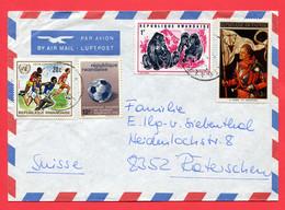 Ruanda 1966  To Switzerland - Rwanda