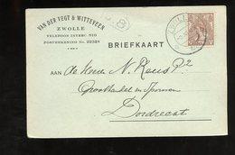 Van Der Vegt & Witteveen Zwolle ( Breiwol, Diezerstaat 62) > Groothandel In Sponsen Dordrecht (GJ-7) - 1891-1948 (Wilhelmine)