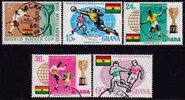 GHANA 1966 SG 429-34 Compl.set+m/s Used World Cup Fotball - Ghana (1957-...)