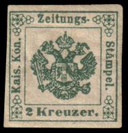 MH ) LOMBARDO-VENETO 1853 | Segnatasse Giornali. 2kr. Verde Scuro, II Sottotipo | Provenienza | Collezio - Lombardo-Vénétie