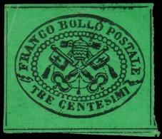 Noto Solo Senza Gomma ) STATO PONTIFICIO 1867   3c. Verde, Non Emesso   Francobollo Perfetto E Di Grandissima Qualità, I - Papal States