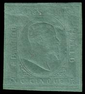 """MH ) SARDEGNA 1853   5c. Verde   Provenienza   Collezione """"Nimue""""   Cert. S. Sorani, G. Colla, A. Zanari - Sardaigne"""
