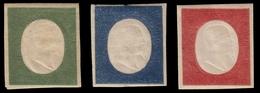 """MH ) SARDEGNA 1854   """"Non Emessi"""". 5 C. Verde Oliva Scuro, 20c. Indaco, 40c. Rosso Mattone   Provenienza - Sardaigne"""
