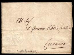 Cover ) SARDEGNA 1820 (7 Mag.)   Lettera Con Testo, Su Foglio Doppio, Da Torino Per Cercenasco, Affrancata - Sardaigne