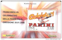 2006 - ITALIA - 02 TESSERA FILATELICA CALCIATORI PANINI - 6. 1946-.. Republic