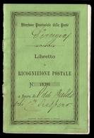 Used ) REGNO D'ITALIA 1874 | Ricognizione Postale. Libretto Completo Di 10 Pagine Con Su Ognuna Applicato - 1861-78 Vittorio Emanuele II