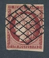 DP-124: FRANCE: Lot Avec N°6 Obl Grille - 1849-1850 Ceres