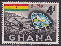 GHANA 1967 SG 446 3½n.p. On 4d Used - Ghana (1957-...)