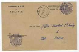 E17 - België - 1978 Brief Gemeente Asse Politie - Stempel Zellik - Poststempels/ Marcofilie