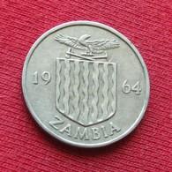 Zâmbia 6 Six Pence 1964 KM# 1 Zambie Sambia - Zambia