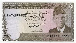 PAKISTAN P. 38 5 R 1986 UNC - Pakistán