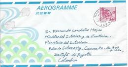 Japon. 1-XI-2002. Aerograma. Nagata - Bogota. - Interi Postali