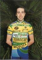 Postcard Ivan Mantegazza - Selle Italia-Eurocar-Mosoca-Galli - 1990 - Ciclismo