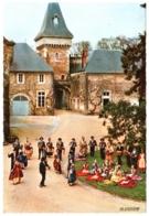 CPSM 03 (Allier) Vichy - Folklore Bourbonnais, Groupe Vichy Et Ses Sources. La Bourrée Au Son De La Vielle TBE Flamme - Vichy
