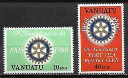 VANUATU   -   1980.    Rotary  Club De Port-Villa.   Neufs ** - Vanuatu (1980-...)