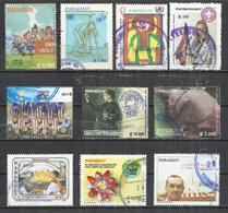 TEN AT A TIME - PARAGUAY - LOT OF 10 DIFFERENT COMMEMORATIVE - USED OBLITERE GESTEMPELT USADO - Paraguay