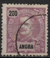 Angra – 1897 King Carlos 200 Réis Used Stamp - Angra