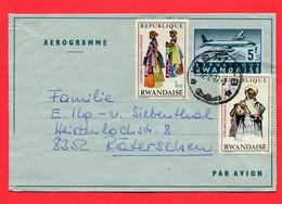 Ruanda 1975  Aerogramm   To Switzerland - Rwanda