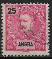 Angra – 1898 King Carlos 25 Réis Used Stamp - Angra