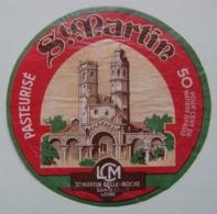 Etiquette Fromage - L'Eglise St-Martin - L.C.M à St-Martin-Belle-Roche 71 Bourgogne - Saone&Loire    A Voir ! - Fromage