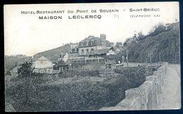 Cpa Du 22  Saint Brieuc -- Pont De Souzain Hotel Restaurant Maison Leclercq    AVR20-121 - Saint-Brieuc
