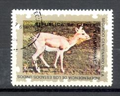 Timbre Oblitéré - Guinée Equatoriale / Guinéa - Animaux / Antilopes - Persian Gazelle (Gazella Subgutturosa) - (1) - Equatoriaal Guinea