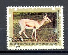 Timbre Oblitéré - Guinée Equatoriale / Guinéa - Animaux / Antilopes - Persian Gazelle (Gazella Subgutturosa) - (2) - Equatoriaal Guinea