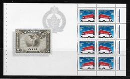 CANADA # 1273a   CANADA POST CORPORATION  MNH, With Stamp AIR 5 CENTS - Blocchi & Foglietti