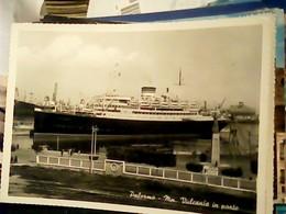 PALERMO MOTONAVE VULCANIA NAVE SHIP PIROSCAFO N1950 HQ9251 - Palermo