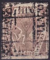 NAPOLI 1858 10 Grana Rosa Brunastro, Used. - Napoli