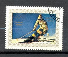Timbre Oblitéré - Guinée Equatoriale / Guinéa - Jeux Olympiques / Ski - Winter Olympics, Innsbruck 1976 - (1) - Equatoriaal Guinea