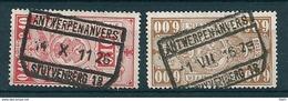 TR 136 + 158 Gestempeld ANTWERPEN - ANVERS STUYVENBERG 18 - 1923-1941