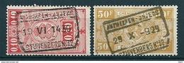 TR 136 + 166 Gestempeld ANTWERPEN - ANVERS STUYVENBERG 32 - 1923-1941