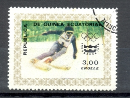 Timbre Oblitéré - Guinée Equatoriale / Guinéa - Jeux Olympiques / Ski - Winter Olympics, Innsbruck 1976 - (2) - Equatoriaal Guinea