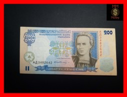 UKRAINE 200 Hriven 2001  P. 115  XF \ AU - Ukraine