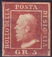 SICILIA 1859 5 Grana Vermiglio Vivo Varietà Testa Di Chiodo - Sicilia
