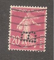Perfin/perforé/lochung France No 190 B Bonnard Père Et Fils Puis Matca - France