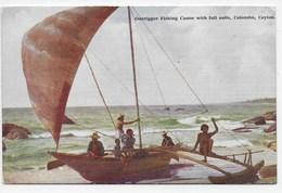 COLOMBO - Outrigger Fishing Canoe With Full Sails - Plate 77 - Sri Lanka (Ceylon)