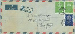 84377 - GHANA - Postal History - REGISTERED COVER To ITALY 1962 - MALARIA  Medicine - Ghana (1957-...)