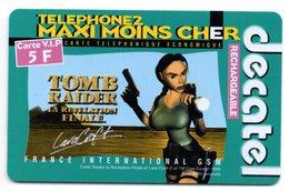 Carte Prépayée DECATEL / TOMB RAIDER - LARA CROFT 5 F  (Voir Photos Recto/verso Et Description) - Prepaid-Telefonkarten: Andere