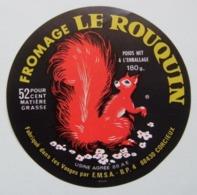 """Etiquette Fromage - L'Ecureuil """"Le Rouquin"""" - Fromagerie Marcillat à Corcieux 88 Lorraine - Vosges   A Voir ! - Fromage"""