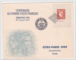 Bloc Citex Sur Lettre Du Centenaire Du Timbre Juin 1949 Au Grand Palais Ceres - Francia