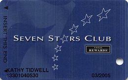 Harrah's Casino Multi-Property - TR Seven Stars Slot Card @2004 / 4 Lines Under Logos / No Sig - Casino Cards