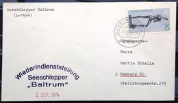 """ALLEMAGNE Rep.Fédérale - BUND - Brief Mit Schiffspost-Stempeln, Dabei """" BALTRUM """" - [7] West-Duitsland"""