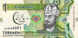 25 Pieces Turkmenistan - 1 Manat 2017 AA UNC Series - Turkménistan