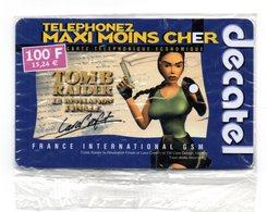 Carte Prépayée DECATEL / TOMB RAIDER 3 - LARA CROFT 100 F (NSB)  (Voir Photos Recto/verso Et Description) - Francia