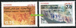 2020- Tunisie - Peintures Rupestres: Djebel Ousselet (Oueslatia) - Djebel Bliji (Tamaghza) – Emission Complète 2v.MNH** - Tunesië (1956-...)