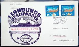 """ALLEMAGNE Rep.Fédérale - BUND - Brief Mit Schiffspost-Stempeln, Dabei """" FLUNDER """" - [7] West-Duitsland"""
