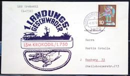"""ALLEMAGNE Rep.Fédérale - BUND - Brief Mit Schiffspost-Stempeln, Dabei """" KROKODIL """" - [7] West-Duitsland"""